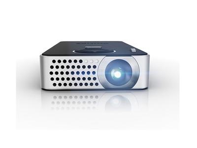 飞利浦 PPX4350 超便携LED迷你微型投影机 带HDMI高清接口 自带锂电池 还可当充使用 性能功能全具 全国联保 正品保障