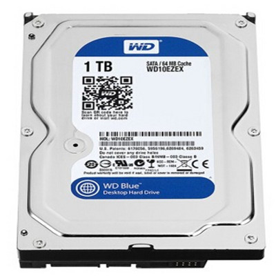 西部数据 1TB 7200转 64MB SATA3 蓝盘(WD10EZEX)