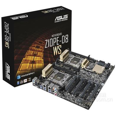 华硕Z10PE-D8 WS 双路 图形工作站主板 2011针 4路SLI交火