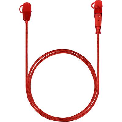 二合一数据电源线 合金编织版 红色