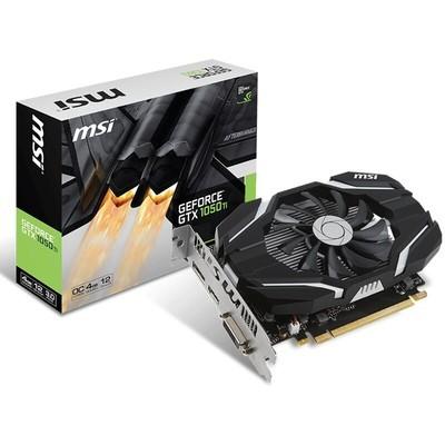 微星 GeForce GTX 1050Ti 4G OC GDDR5 小机箱 电脑游戏显卡 单风扇