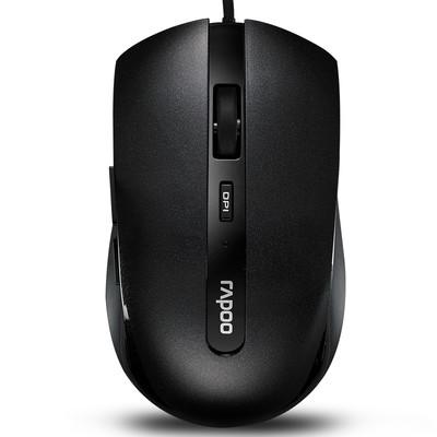 雷柏 N3600有线 光学鼠标  迷你鼠标
