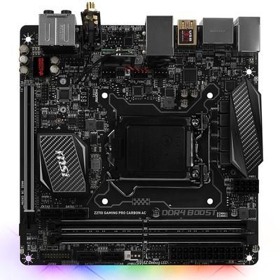 微星(MSI)Z270I GAMING PRO CARBON AC主板(Intel Z270/LGA 1151)