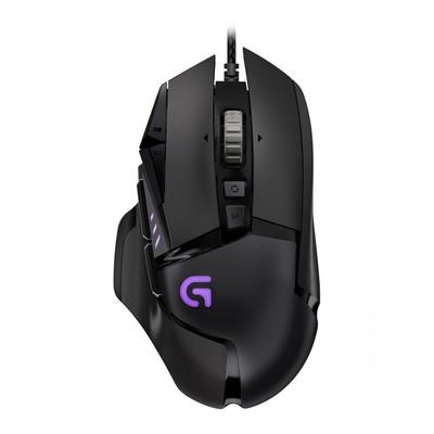 罗技G502RGB版竞技有线游戏LOL鼠标多彩炫光呼吸灯可编程罗技G502游戏鼠标 带呼吸灯可自由配重 LOL游戏鼠