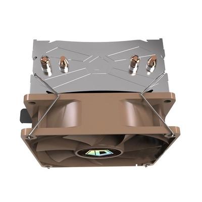 ID-COOLING SE-902 V2 多平台塔式侧吹CPU散热器 双热管9cm温控静音风扇兼容小机箱