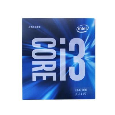英特尔(Intel)酷睿双核 i3-6100 1151接口 盒装CPU处理器 集成HD530