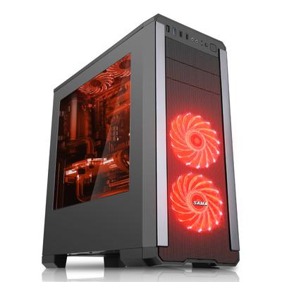 先马 塞恩3 大侧透明游戏机箱DIY水冷ATX电脑主机箱 U3独立电源仓