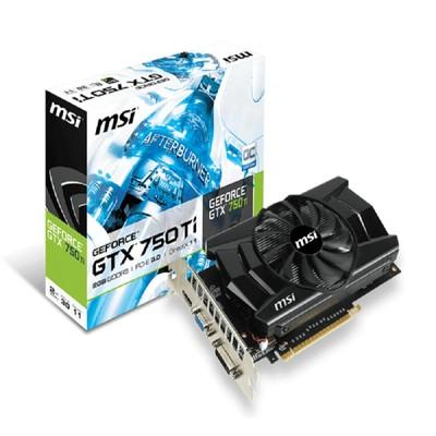 微星 N750Ti-2GD5OC DDR5 独立显卡  2G 显存 128 位宽  无需额外供电