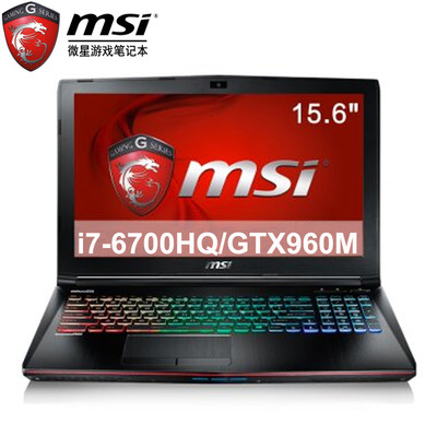 【顺丰包邮】msi微星 GE62 6QD-1077XCN 15.6英寸游戏影音本
