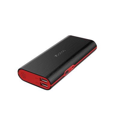羽博10000毫安移动电源大容量双USB输出  2A快充对手机充电 强质感