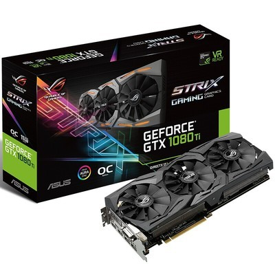 华硕(ASUS)ROG STRIX-GTX1080TI-O11G-GAMING GDDR5X PCI-E3.0显卡