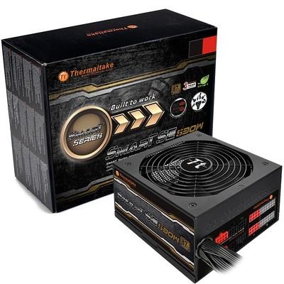 Tt(Thermaltake)额定530W SmartSE SPS-530M 电源(半模组/扁平式线材/14cm智能温控风扇)