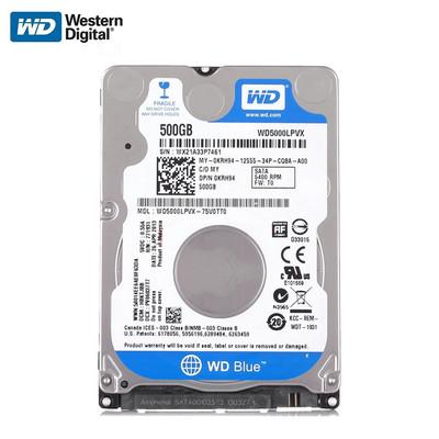 西部数据 500GB 5400转 8M SATA3 蓝盘WD5000LPVX 2.5笔记本电脑硬盘