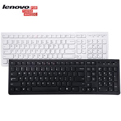 联想 K5819键盘 黑白色巧克力 轻薄USB办公 防水有线台式机电脑 笔记本外接键盘