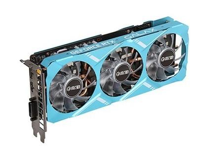 影驰 RTX2070 金属大师 8G 256bit 台式机独立游戏超频图灵显卡 蓝色