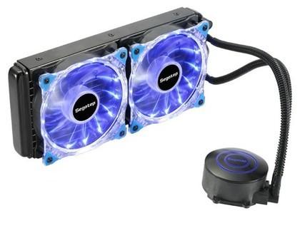 鑫谷水凌霜 水冷散热器一体式120/240水排台式机电脑cpu散热器 水凌霜240双风扇
